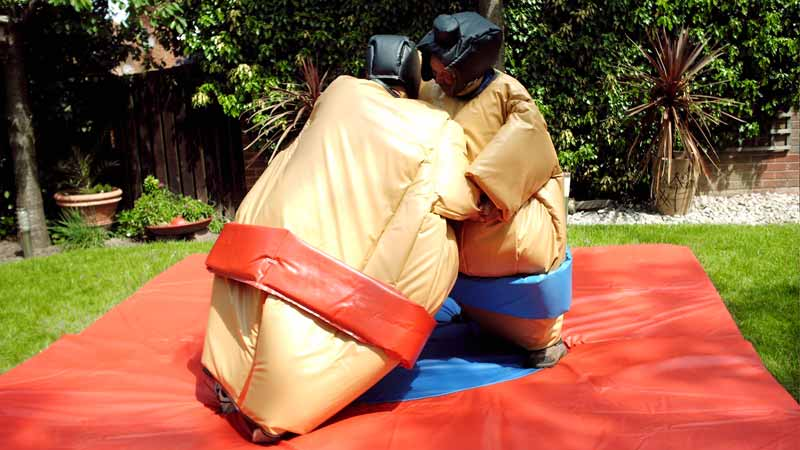 Sumo suite hire for older kids and adults around Northamptonshire
